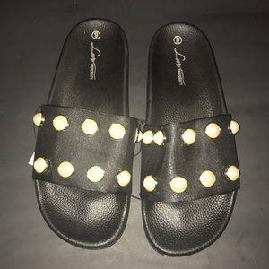 Shoes - 🔥🔥Embellished Slides🔥🔥Hot Pick
